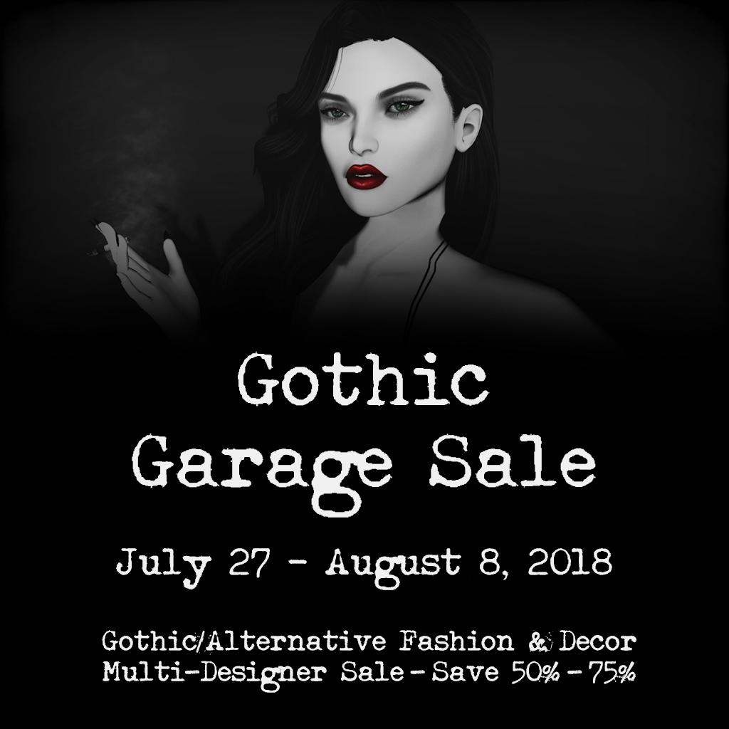 new sponsor – gothic garage sale