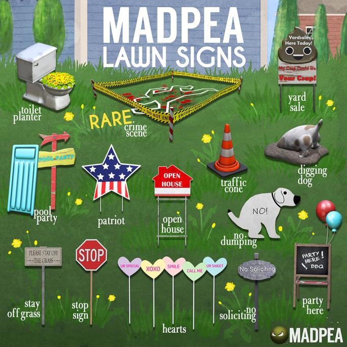 MadPea Lawn Signs Gacha Key 1024